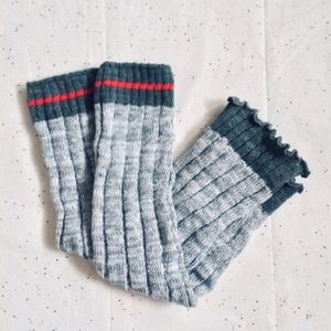 Accessories - Gray & Pink Leg Warmers